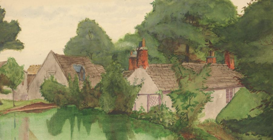 Rivelin Corn Mill, by Charles Dyson, 1932.