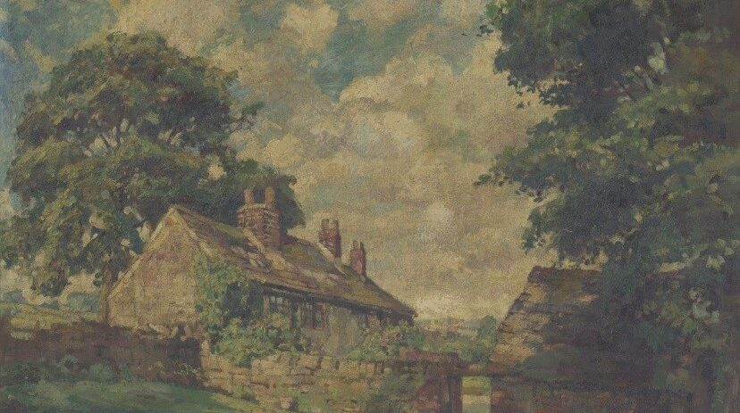 Rivelin corn mill cottages by W R E Goodrich