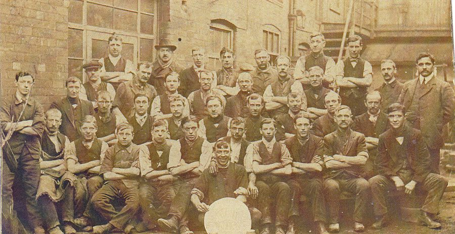 Grinders from Mousehole Forge and Grogram Wheel, possibly taken after winning gold at the Great Exhibition at Crystal Palace in 1851. From the KK collection.