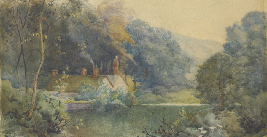 Mill Dam and Distant Mill, by Ben Baines, 1935