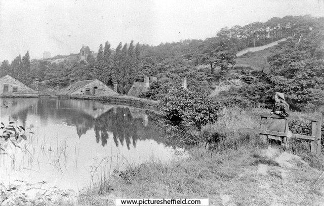View across Spooners mill dam in the early 20th century. Sheffield City Council, Libraries Archives