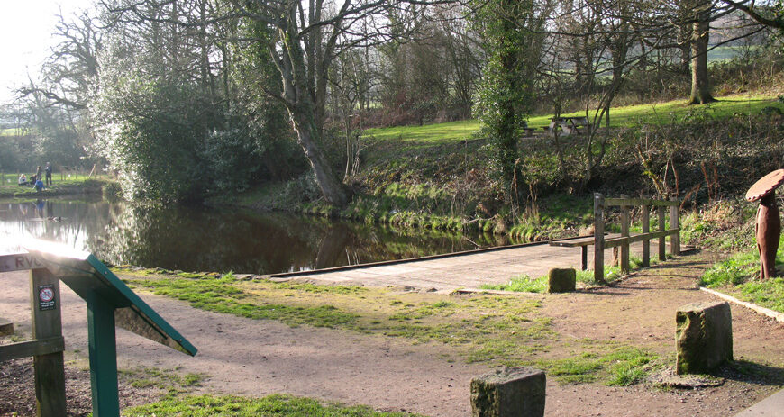 The site of Rivelin Corn Mill now has a pond-dipping platform and outdoor classroom. [Photo: Joan Buckland, 2012]